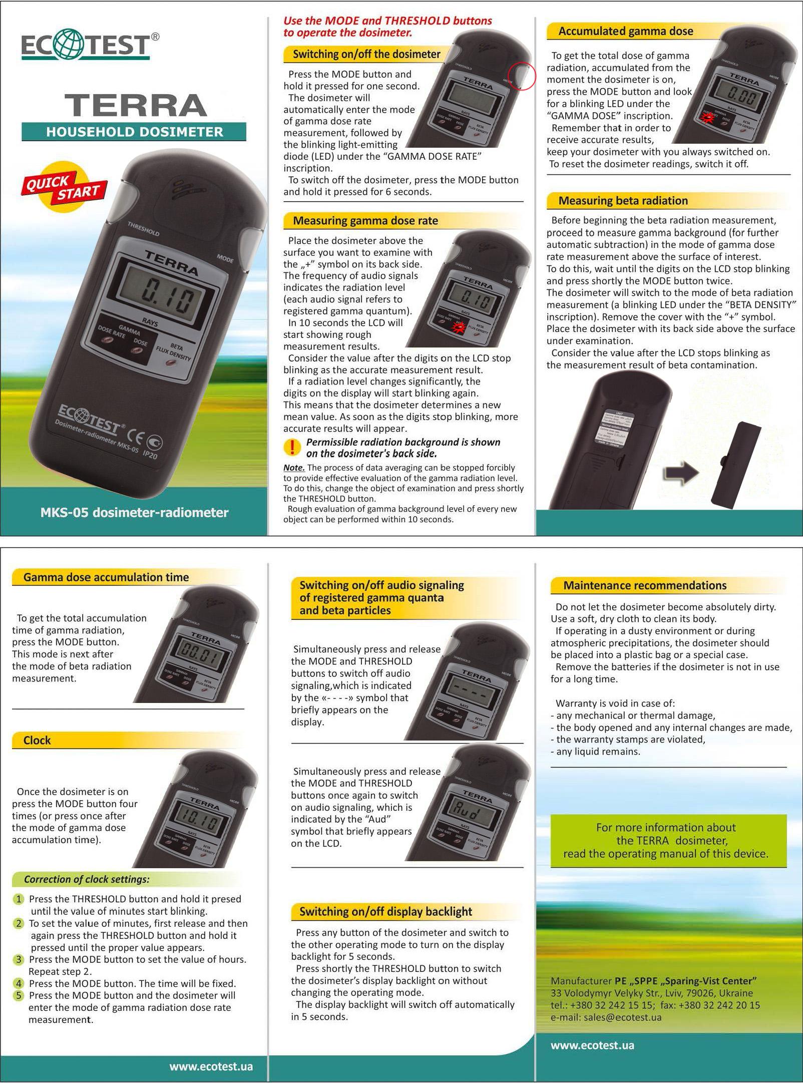 Дозиметр мкс-05 терра | отзывы покупателей, акции, лучшая цена.